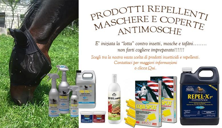 Prodotti insetticidi e repellenti. Maschere e coperte anti mosche